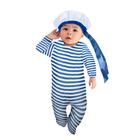"""Карнавальный костюм """"Морячок малышок"""", ползунки,пилотка, 6-9 месяцев, рост 75 см."""