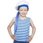 """Карнавальный костюм """"Морячок"""", тельник, бескозырка, 2-3 года рост 94-104 см."""