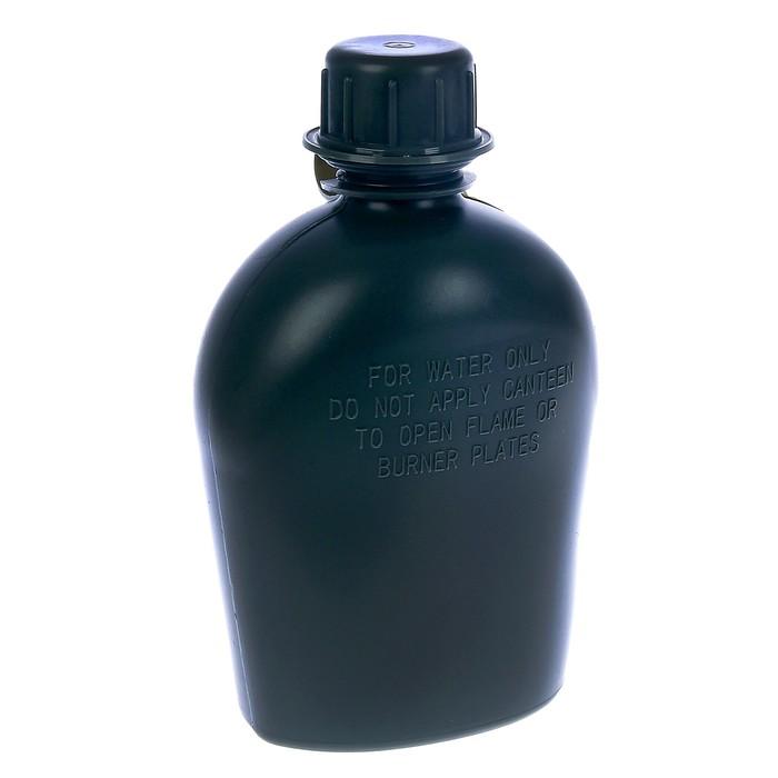 Фляга походная, 1 л, пластиковая в чехле, 14 × 7 см