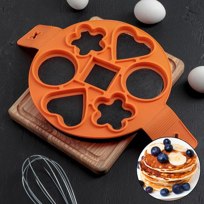 """Form for eggs and pancakes 40х23 cm """"mtrs. Pieces"""", MIX colors"""