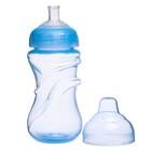 Поильник детский с мягким носиком, 340 мл, от 5 мес., цвет голубой - фото 105490457