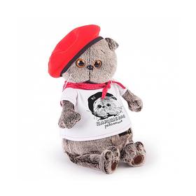 Мягкая игрушка «Басик. Плюшевая революция», в футболке с принтом, 19 см