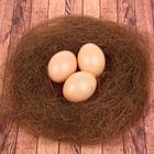 Набор яиц для декорирования, 3 шт в гнезде, цвет коричневый
