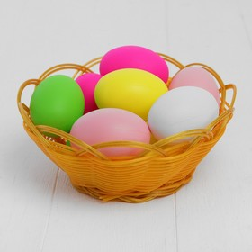 A set of eggs for decorating, 10 PCs in a basket, MIX color