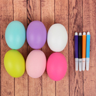 "Раскраска фломастерами ""Яйцо"" (набор 6 шт), цвета МИКС"