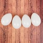 Набор яиц для декорирования, 4 шт, размер 1 шт 9,5*6,5*6,5, цвет белый