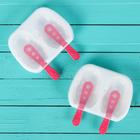 """Набор форм для мороженого """"Зверята"""", 2 шт, 2 ячейки, цвета МИКС"""