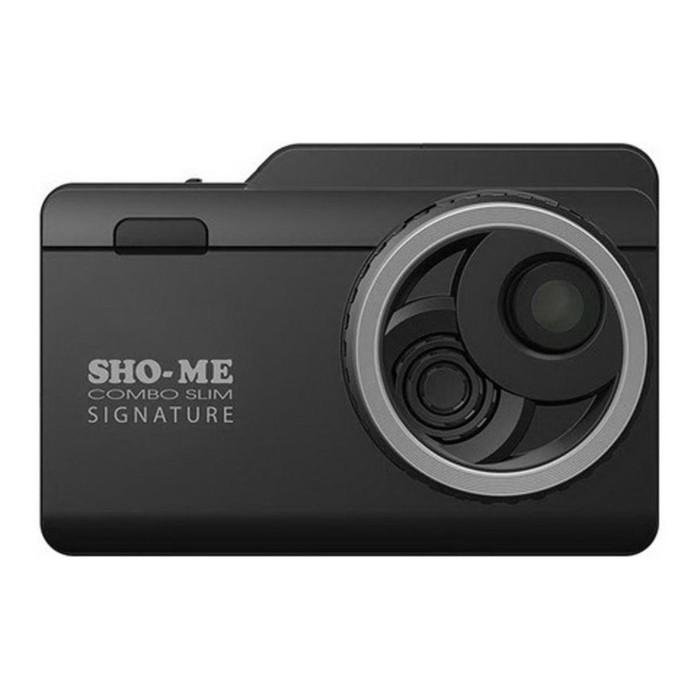 """Видеорегистратор SHO-ME Combo Slim Signature, сигнатурный, 3.5"""", обзор 168°, 2304х1296"""