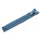 Молния ZZD, №5, металлическая, неразъёмная, 18см, цвет D231 серый-синий, никель