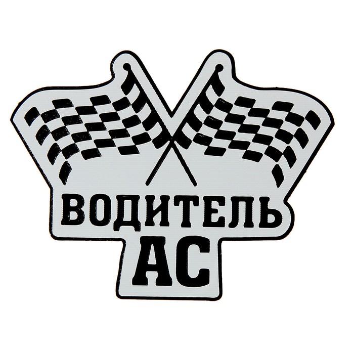"""Наклейка на авто светоотражающая """"Водитель АС"""""""