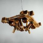 """Люстра деревянная """"Банджо"""", 4 лампы, 60х50 см"""