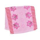 """Полотенце махровое """"Кленушка""""(розовый),  25х50 см , 100% хлопок ,340 г/м2"""