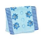 """Полотенце махровое """"Кленушка""""(голубой),  25х50 см , 100% хлопок ,340 г/м2"""
