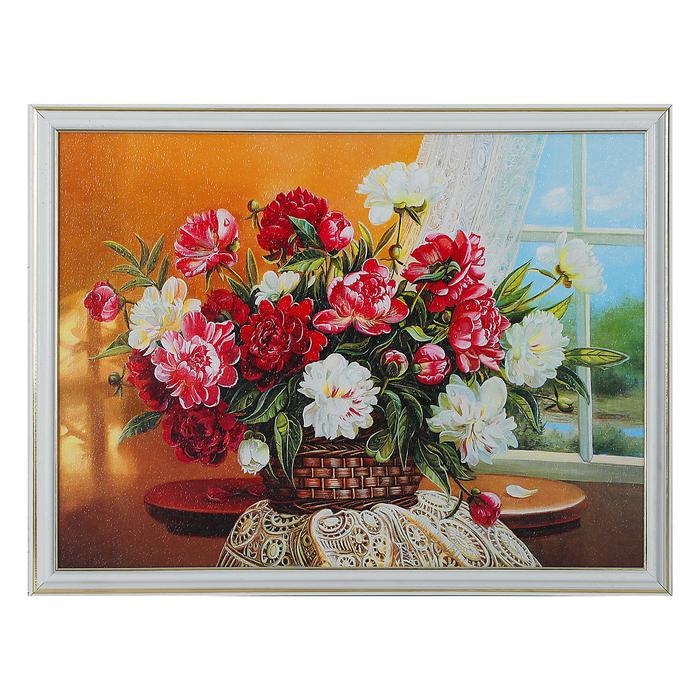 """Картина """"Корзина с цветами"""" 33*43 см"""