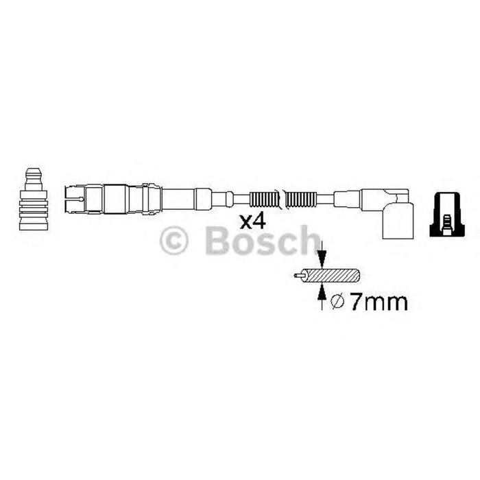 Провода высоковольтные, комплект BOSCH 0986356310