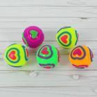 "Мяч световой ""Сердечки"" с пищалкой, цвета МИКС"