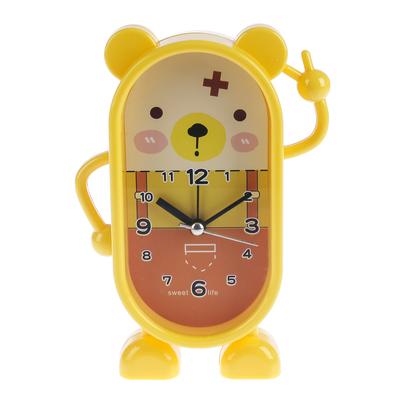 """Будильник """"Доктор Мишка"""", желтый, 15.5х10.5см"""