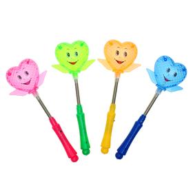 Палочка световая «Сердечко», на пружинке, цвета МИКС