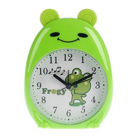 """Будильник """"Зеленая Лягушка"""", с подсветкой, 12х16 см"""