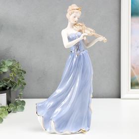 """Сувенир """"Девушка-скрипачка"""" 35х16х11,5 см"""