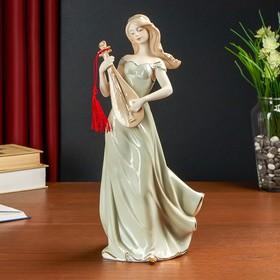 """Сувенир керамика """"Девушка с мандолиной"""" 34х15х11,5 см"""