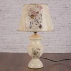 """Лампа настольная керамика """"Велосипед с цветами"""" Е27 220В 42х25х25 см"""