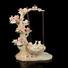 Сувенир керамика под фарфор малыш в колыбели 30*21*10 см
