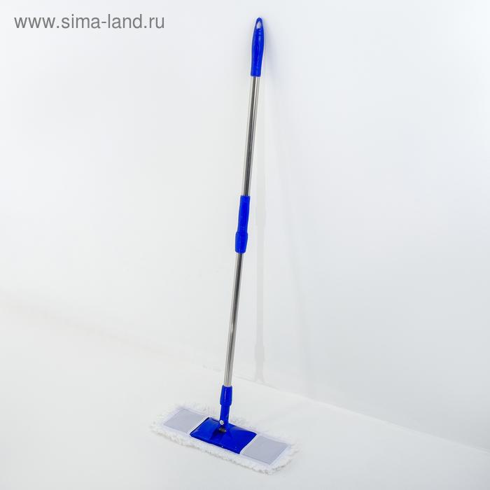 """Flat MOP with telescopic steel handle, microfiber 77-118 cm """"Ocean"""""""