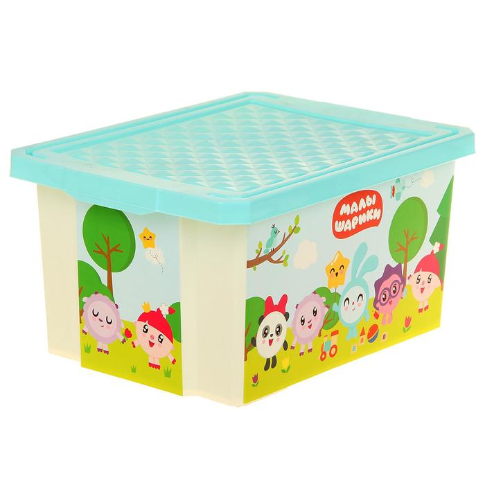 """Ящик для хранения игрушек """"Малышарики"""", 17 л"""