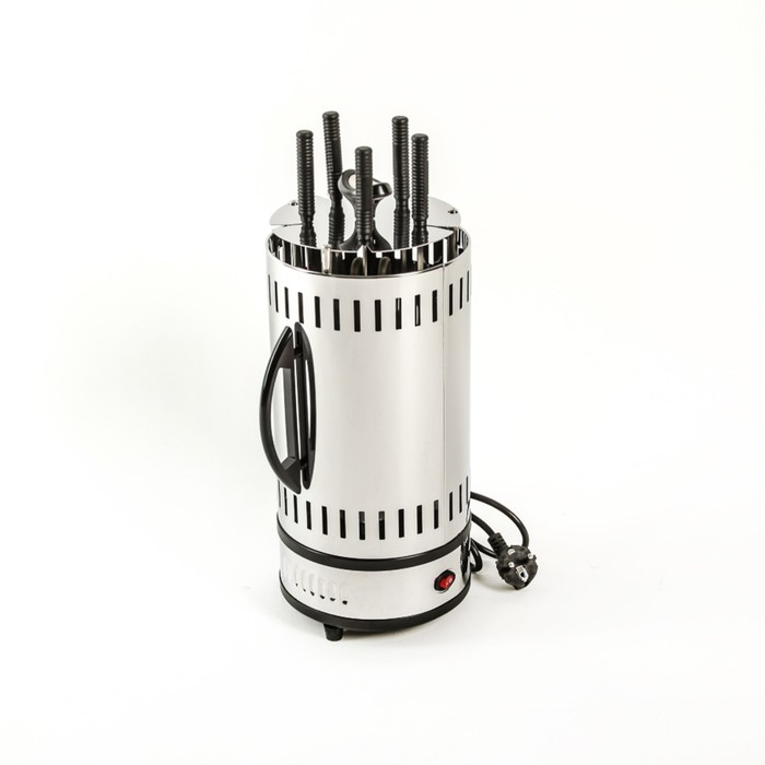 Электрошашлычница Polaris PEG 0503,1000 Вт, 5 шампуров, черный