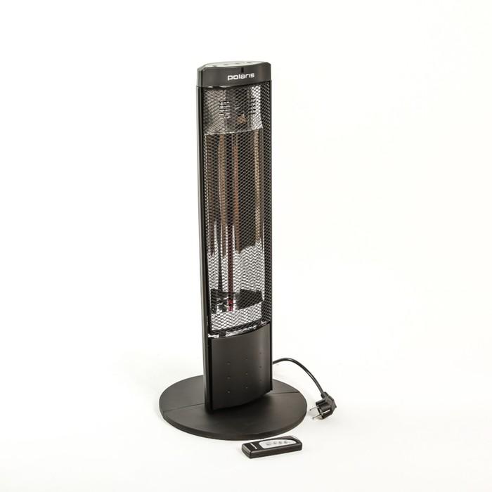 Обогреватель Polaris PHSH 0708D, галогенный, 800 Вт, пульт, таймер, черный