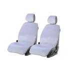 Накидки на передние сиденья ALPACA, искусственный мех, белый, набор 2 шт.