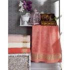 Набор полотенец Selena, размер 70х140 см-4 шт., бамбук 450 г/м2 8836