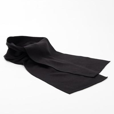 Шарф детский, размер 137 Х 21 см, цвет чёрный 1196