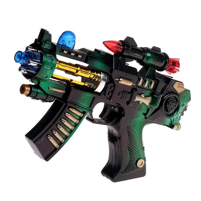 Автомат «Крутые пушки», световые и звуковые эффекты, работает от батареек, цвета МИКС