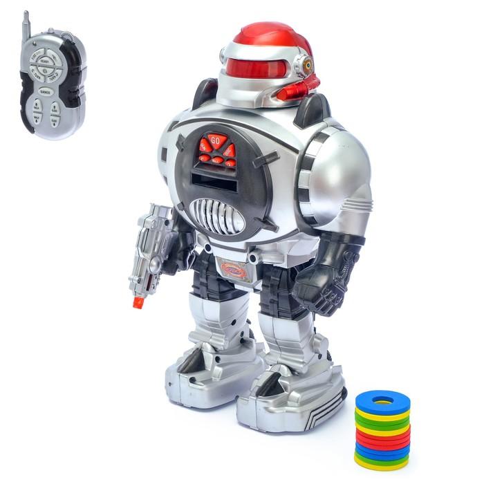 Робот радиоуправляемый «Космический боец», световые и звуковые эффекты, стреляет дисками - фото 686220474