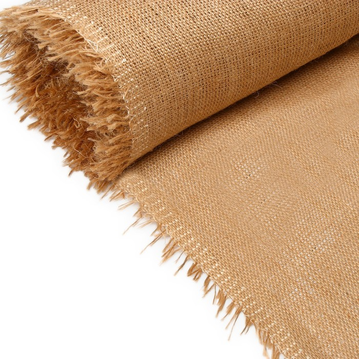 Джут натуральный, 1,06 × 10 м, плотность 360 г/м², плетение 69/44