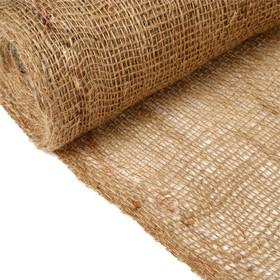 Джут натуральный, 1,1 × 5 м, плотность 215 г/м², плетение 34/32 Ош