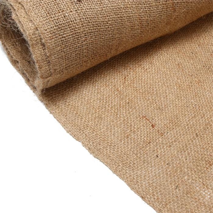 Джут натуральный, 1,1 × 10 м, плотность 260 г/м², плетение 46/40