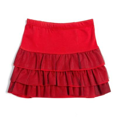 Юбка для девочки, рост 86 см, цвет красный Юб-164_М