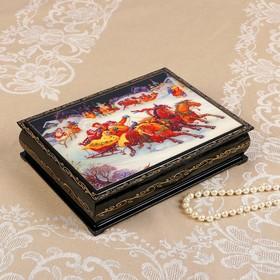 Шкатулка «Русские гуляния», 17×22 см, лаковая миниатюра