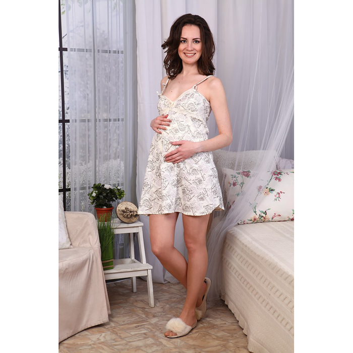 Сорочка для беременных и кормящих 485, цвет МИКС, размер 52