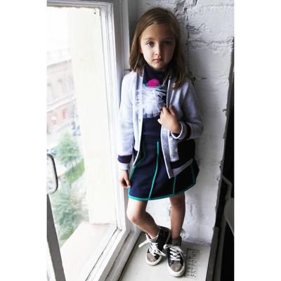 Юбка для девочки, рост 104 см, цвет синий/зелёный Юб-023.1