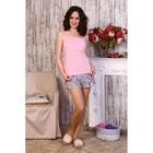 Пижама женская (майка, шорты) 633/1 цвет розовый/серый, р-р 42