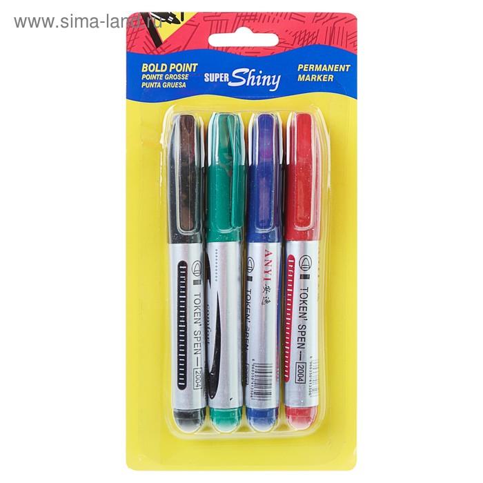 Набор маркеров перманентных 4 цвета 0.4 мм на блистере
