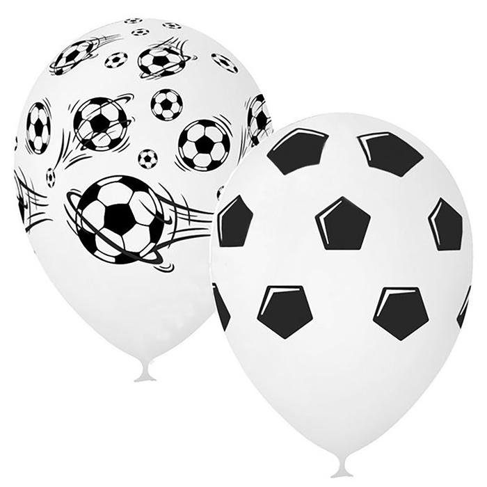 """Шар латексный 12"""" «Футбол», пастель, 5-сторонний, набор 25 шт., цвет белый - фото 954122"""