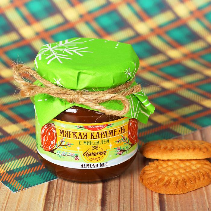 Мягкая карамель ALMOND NUT с миндалем, 110 г