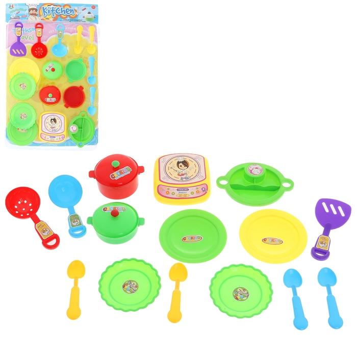 """Набор посуды """"Вкусный обед"""", 15 предметов"""