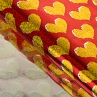 """Film holography """"Gold hearts"""", red, 70 x 100 cm"""