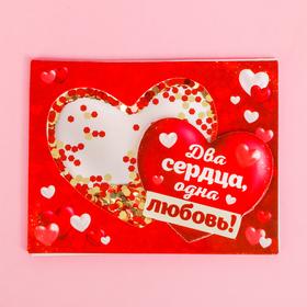 Магнит-шейкер «Два сердца, одна любовь» в Донецке